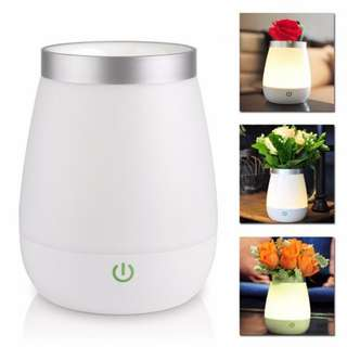 Rechargeable Vase Lamp LED Night Light Bed Desk (3-Modes Touch Control)