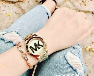 MK AUTHENTIC LOGO WITH STONE