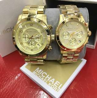 MK AUTHENTIC RUNWAY WATCH COUPLE