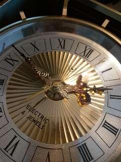 古董日本制金屬高頻石英時鐘