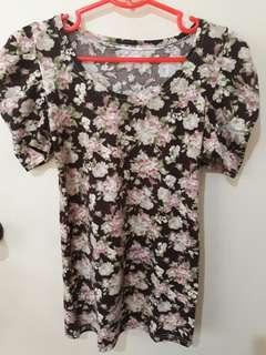 Floral blouse 3/4