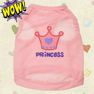 Dog/Cat Princess Crown Tshirt Vest
