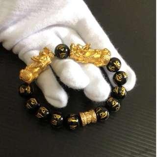 双貔貅 六字真言 10mm @ $148 each. (24.68g~24.74g. Each bracelet come with 2 certificate)