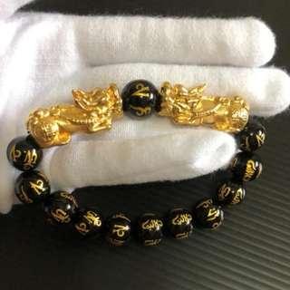 双貔貅 六字真言 10mm @ $128 each. (24.68g~24.74g. Each bracelet come with 2 certificate)