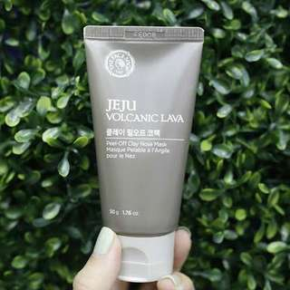 The face shop jeju volcanic lava peel-off clay nose mask 50gr
