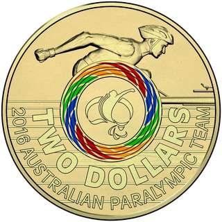 澳洲 2016年 傷殘奧運會七彩紀念coins set