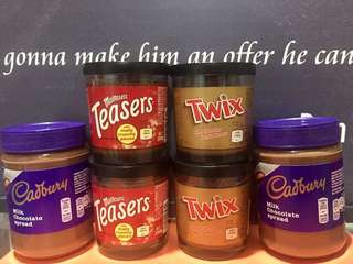 CHOCOLATE SPREADS TWIX/ MALTESERS TEASERS