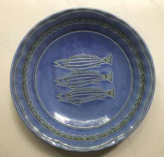 Vintage plate with fish motif