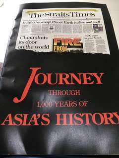 🚚 The Straits Times Millennium Special - A Journey Through 1000 Years of Asia's History