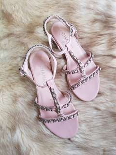 Authentic Chanel Chain Strappy Sandals Size 36