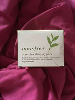 Preloved innisfree greentea sleeping pack