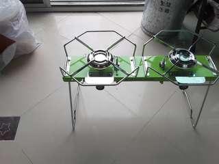 [生活營造] 韓國製造 KOLON SPORT 古董 復古 露營恩物 戶外 camping stove gas爐 Twin Burner (用普通打邊爐gas爐嘅gas)