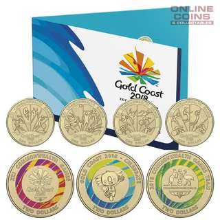 澳洲 2018年 澳洲運動會七彩紀念coins set