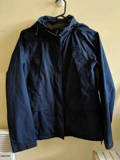 North Face goretex jacket Navy blue womens SMALL