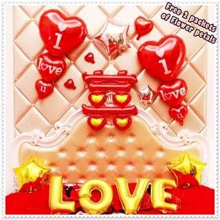 Wedding Proposal Balloons / 喜 Bedroom Foil Balloons Decor