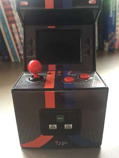 Mini arcade machine from typo