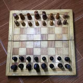 Mini Wooden Chess Set (9 x 9 in)