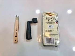 NEW Guitar restringing Repair Kit (& Fret polishing Wool Crafter, Dunlop)