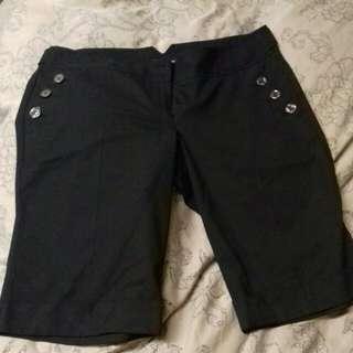 Black  Women's Dress Shorts