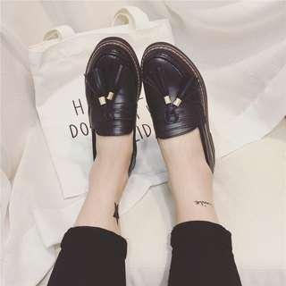 Tassel Matte Black Shoe