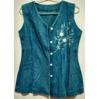 Denim Sleeveless Outer