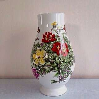 Old Chinese Porcelain Flowers Vase Height 33cm Perfect Condition