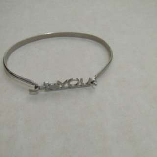 Stainless steel i love you bracelet