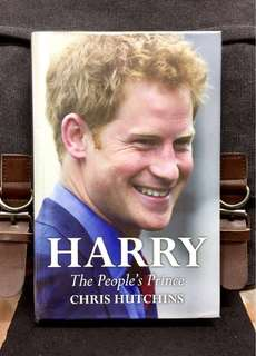 《New Book Condition + Hardcover Edition》Chris Hutchins - HARRY : The People's Prince