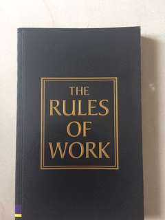 🚚 The Rules of Work by Richard Templar