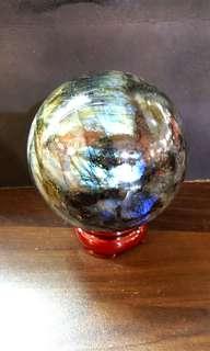10.2cm TOP GRADE LABRADORITE BALL 顶级拉长石球