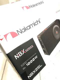 "NAKAMICHI NBX25L Sub 10"" Up Right Slim Box Amplified SUB 130W"
