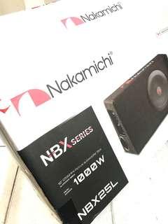 "NAKAMICHI NBX25L Sub 10"" Up Right Slim Box Amplified SUB 130W"