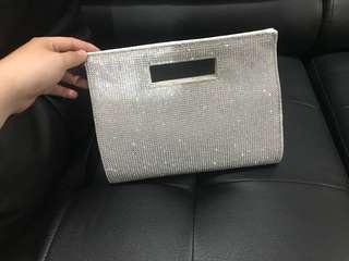 Clutch - tas undangan warna silver