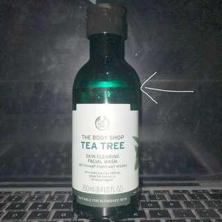 Facial wash tea tree by the body shop