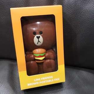 Line Brown Bear Fan
