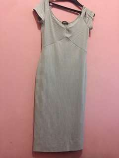 Dress Biru telurasin zara