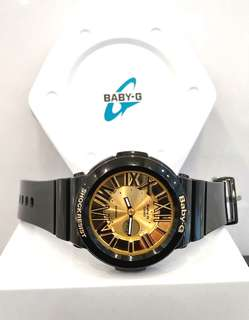 * FREE DELIVERY * Brand New 100% Authentic Casio BabyG Black Gold & Roman Index Lady's Casual Watch BGA-160-1BDR