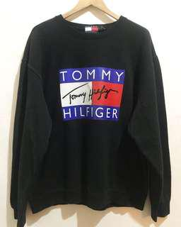 Vintage Bootleg Reprint TOMMY Sweatshirt in Black
