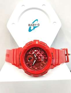 * FREE DELIVERY * Brand New 100% Authentic Casio BabyG Scarlet Red Lady's Casual Watch BGA-195M-4ADR