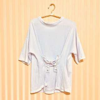 Tied lace white top / tshirt