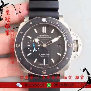 面交 沛纳海 Panerai pam 01389 New Luminor Titanium Black Automatic PAM01389