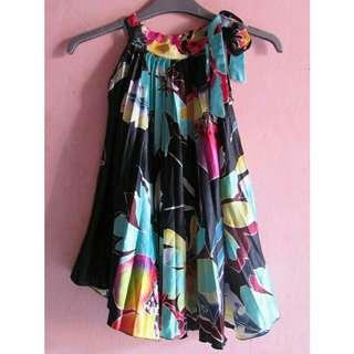 Danica Flower Dress (Black)
