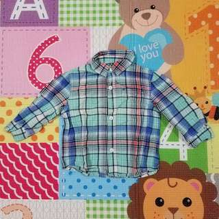 Cherokee Collard Long Sleeve Shirt 12M