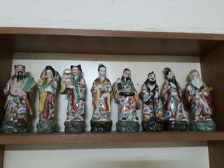 8 immortals porcelain