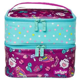 Smiggle Squad Dual Square Lunchbox Purple