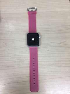 Apple Watch series 2 38mm silver aluminium case +pink woven nylon
