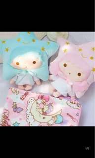 [PO] Little Twin Stars Pillow with Blanket