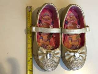 sofia the first glittered gold shoes