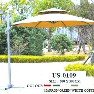 pole garden cantilever  umbrella