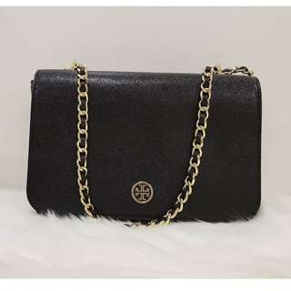 Tory Burch Robinson Patent Adjustable Chain Shoulder Bag